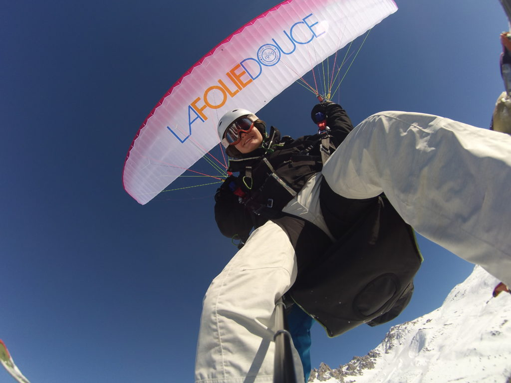 paragliding Courchevel
